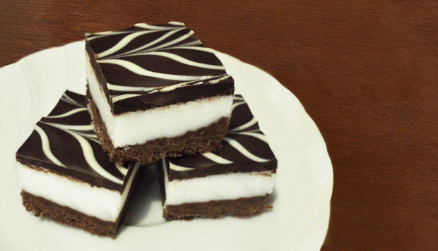 Chocolate and coconut slice