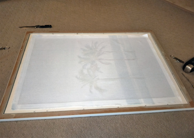 Framing the tea towel